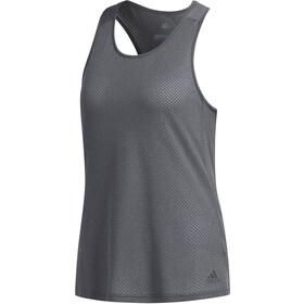adidas Response Camiseta sin mangas running Mujer, dark grey heather